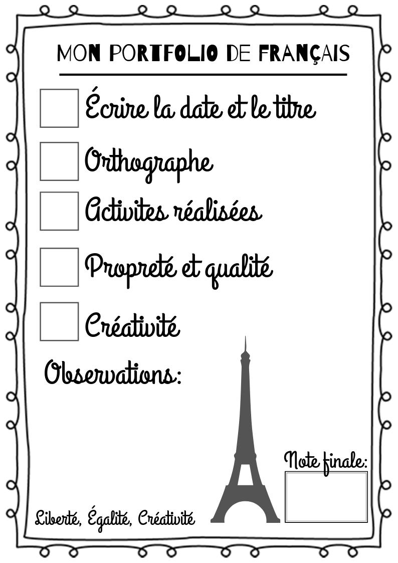 Copie de Mon portfolio de français