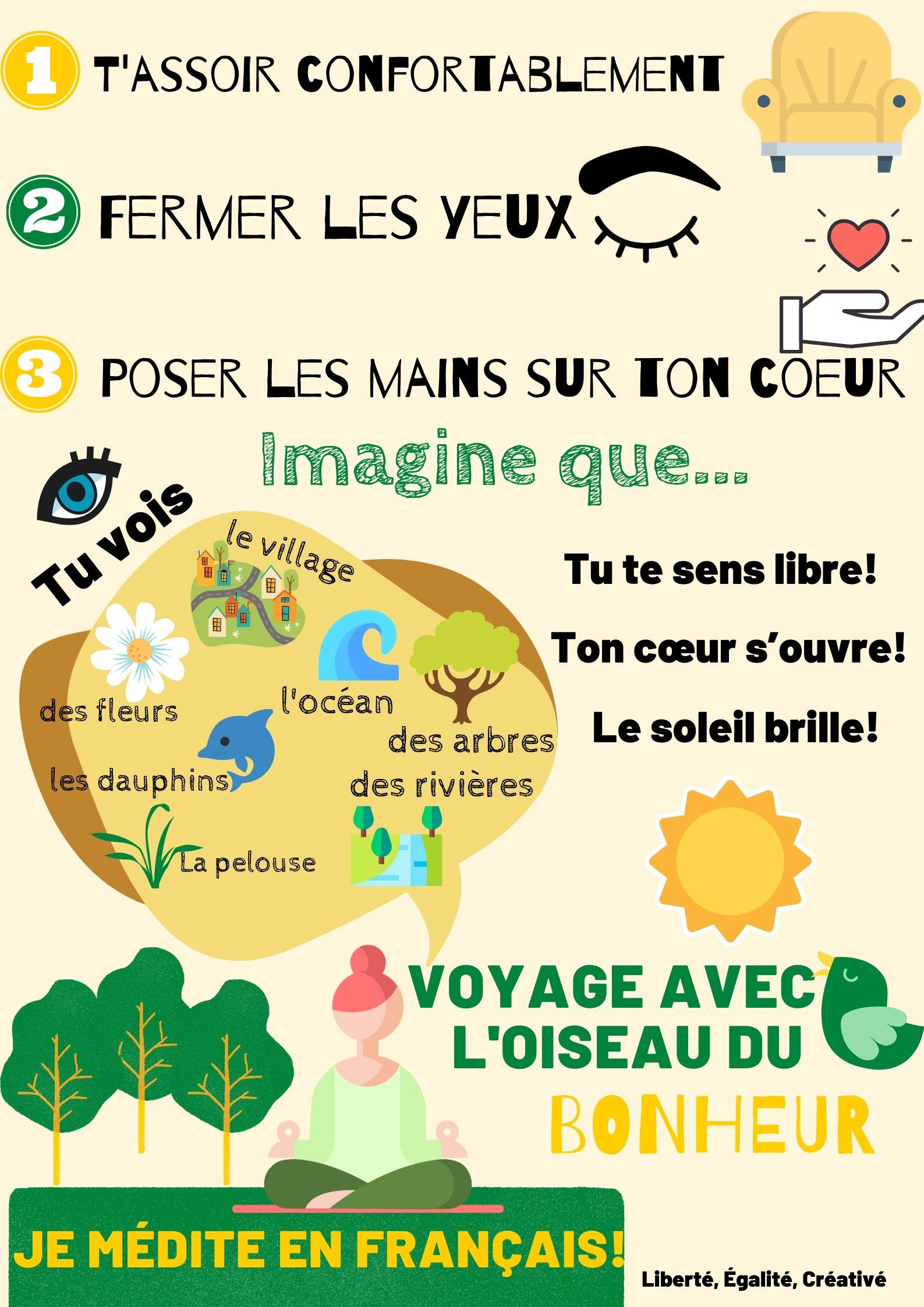 je médite en français!