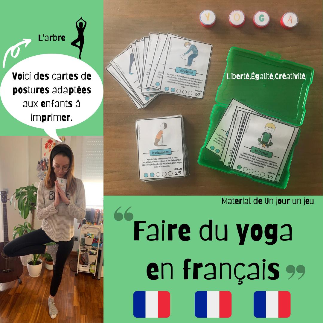 Faire du yoga en français