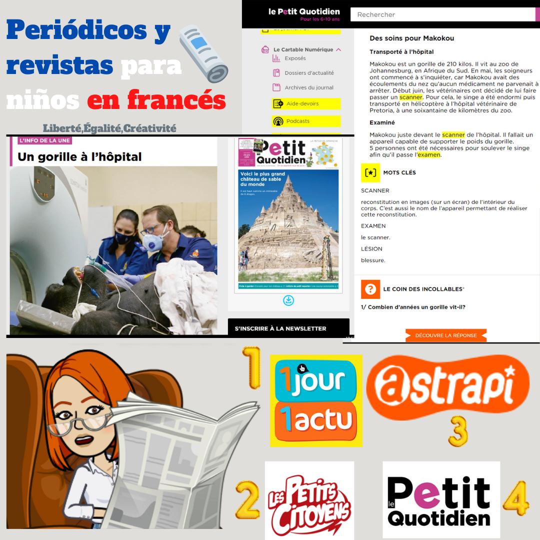 Periódicos y revistas para niños en francés
