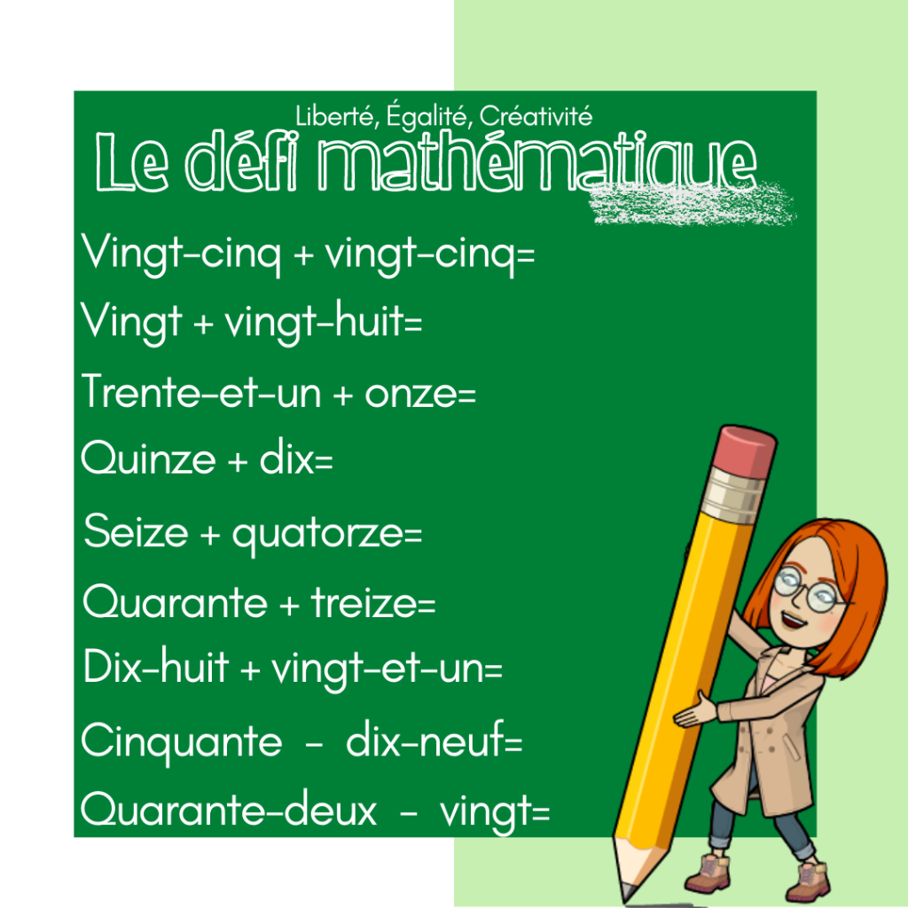 Liczebniki główne i porządkowe + ułamki + działania matematyczne - działania matematyczne - ćwiczenie 1 - Francuski przy kawie